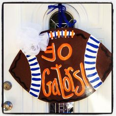 Football door art/wreath Florida gators university of Florida Etsy shop: adorecouturecreate