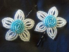 Hand Crafted French Beaded Flower Fashion by timelessbloomsNbeads, $15.00