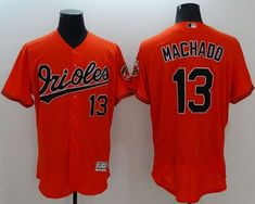 Orioles  13 Manny Machado Orange Flexbase Authentic Collection Stitched MLB Jersey  Baltimore Orioles 21cd597f0