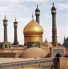 Golden Dome of the Shrine of Fatima in Qom, Iran