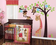Tropical Nursery Wall Decals with Exotic Rain-forests di evgieNev