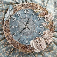 Часы для дома ручной работы. Ярмарка Мастеров - ручная работа. Купить Часы диаметр 40 см. Handmade. Часы настенные