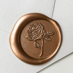 Traditional Wax Seal Stamp with Rose design. Designed by Seniman Calligraphy Seal Size: inch) Calligraphy Supplies, Seal Design, Wax Seal Stamp, Wax Letter Seal, Instagram Frame, Handwritten Letters, Custom Stamps, Rose Design, Aesthetic Vintage