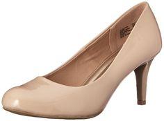 US Comfort Plus by Predictions Women's Nude Patent Karmen Pump 10 Wide High Heel Pumps, Women's Pumps, Pump Shoes, Women's Shoes, Stilettos, Thing 1, Unique Shoes, Comfortable Heels, Casual Heels