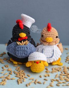 Crochet rooster pattern, rooster crochet pattern, crochet chicken pattern, amigurumi chicken, crochet chicken family