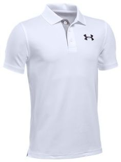 Under Armour Match Play Polo Shirt for Boys - White - XS
