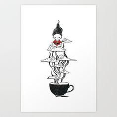 Zen tea Art Print by Freeminds #tea #zen