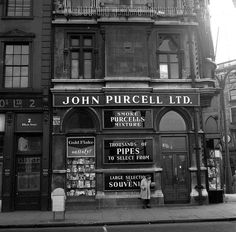 Shops and Shopping. John Purcell Ltd. Old Pictures, Old Photos, Essex Street, Portland Stone, Images Of Ireland, Castles In Ireland, Irish Landscape, City Library, Irish Culture