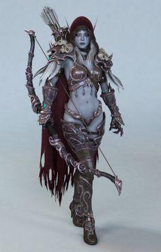 Une somptueuse Sylvanas en CG | Blizzheart World of Warcraft