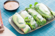 Vietnamese Summer Rolls with Spicy Peanut Dipping Sauce (recipe)