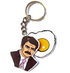 Parks and Rec  Ron Swanson  Eggs by PeachyApricot on Etsy, $8.00