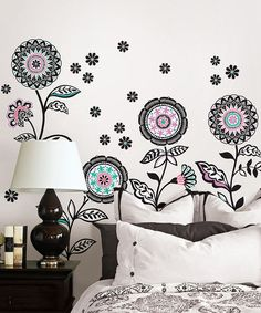 Take a look at this Floral Medley Wall Art Set by WallPops! on #zulily today!