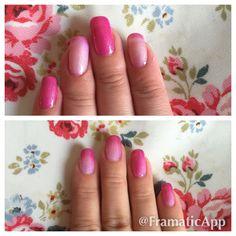 Becky gray hair and nails Gel 2 pryo pearl beautiful shades of pink