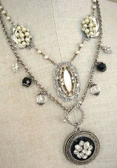 Cute #necklace you could make from some old broken ones.