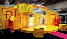 McDonald's Happy Factory on Behance Hall Design, Stand Design, Display Design, Booth Design, Event Design, Exhibition Stall Design, Exhibition Display, Arcade, Creative Advertising