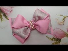 LAÇO ROSY 02 🎀 LETARTES - YouTube Ribbon Bow Tutorial, Hair Bow Tutorial, Fabric Rosette, Fabric Bows, Ribbon Hair Bows, Diy Hair Bows, Fancy Shop, Business Baby, Ribbon Art