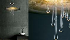 Cryst - Drop 75 Bathtub, Chandelier, Drop, Ceiling Lights, Mirror, Lighting, Glass, Modern, Inspiration