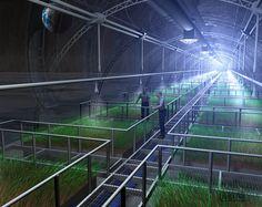 Space Settlement Art Contest - The Lunar Greenhouse