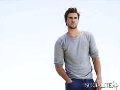 Actor Liam Hemsworth as Russell