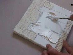 Conseils et astuces peinture : Comment utiliser du modeling paste sur une toile ? - YouTube