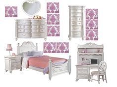 Disney Princess Bedroom set from Rooms to go kids