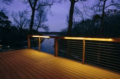 Two of the year's biggest trends: cable rail and deck lights. Paired with our sister product #MoistureShield composite decking, these simple updates can make any deck look brand new.