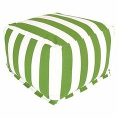 Brielle Indoor/Outdoor Beanbag Ottoman in Sage