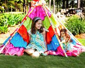 Ruffle Tent Sewing Pattern - Tent or Tee Pee Tutorial