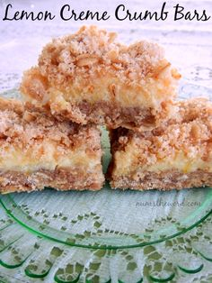 These Lemon Creme Crumb Bars are to die for. The perfect lemon dessert for any lemon lover! Simple, delicious and a huge hit with the taste buds!