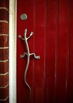 Original door handle lizard / Oryginalny uchwyt do drzwi jaszczurka
