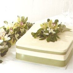 good idea for wedding cake, sheet cake MUCH cheaper. This is a good way to make it presentable for the table.