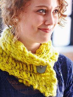 Get cozy with one of these knit or crochet scarves that will keep you warm through the winter months.