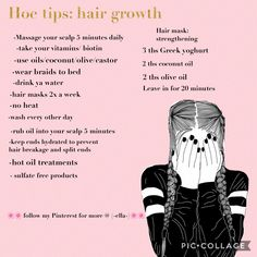 Tips For Hair Growth, Diy Hair Growth, Hair Care Tips, Grow Longer Hair, How To Make Your Hair Grow Faster, Hairstyles To Sleep In, Diy Hairstyles, Thicken Hair, Face Mapping