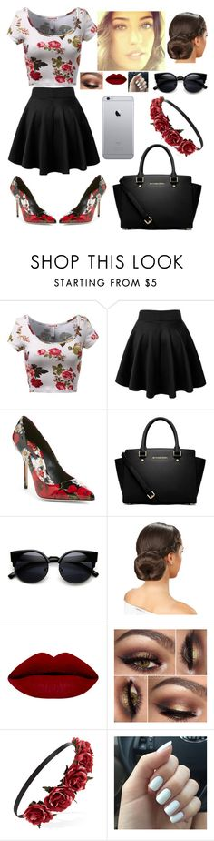 """""""Flower Oufit"""" by blessed-with-beauty-and-rage ❤ liked on Polyvore featuring Dolce&Gabbana, MICHAEL Michael Kors, Forever 21, women's clothing, women's fashion, women, female, woman, misses and juniors"""