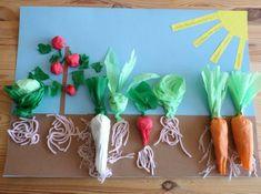 csak beszéljük a zöldségeket, tanuljuk is It would be good for primary level.It would be good for primary level. Garden Crafts For Kids, Summer Crafts, Projects For Kids, Diy For Kids, Diy And Crafts, Arts And Crafts, Paper Crafts, Garden Kids, Vegetable Crafts