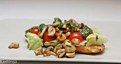 Sandwich med sjampinjong og grønn pesto