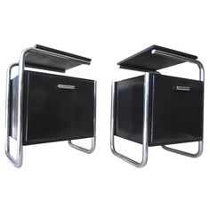 Bauhaus Marcel Breuer Pair of Side Tables, circa 1930 Germany | From a unique collection of antique and modern side tables at https://www.1stdibs.com/furniture/tables/side-tables/