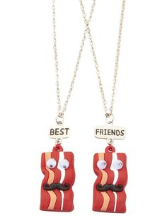 BFF Bacon Strip Necklaces | Necklaces | Jewelry | Shop Justice