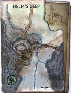 layout of  the hornburg fortress of the rohirrim helm s deep