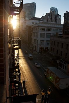 Early morning in the city, before too many people are around...
