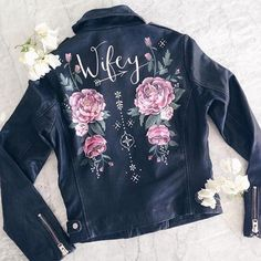 @wolfandrosie Wifey Leather Jacket
