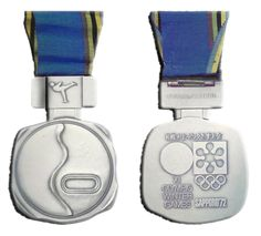 A silver medal, awarded to an unidentified recipient at the 1972 Winter Olympic Games. Youth Olympic Games, Winter Olympic Games, Winter Games, 1972 Olympics, Summer Olympics, Sapporo, Olympic Medals, Summer Winter, Bronze