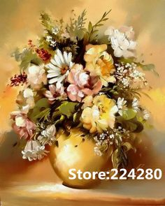 Needlework,for embroidery,DIY DMC 14CT Unprinted Art Cross stitch kits Oil painting of vase  flower Cross-Stitching decor crafts