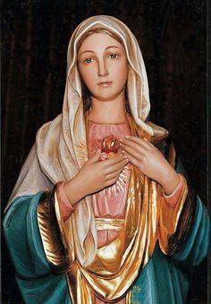 Dulce Corazón de Maria se la salvación del alma mía.
