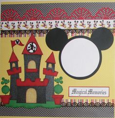 Magical Memories 2 Premade Scrapbook Pages Layout 12x12 Paper Piecing Disney | eBay 18.99