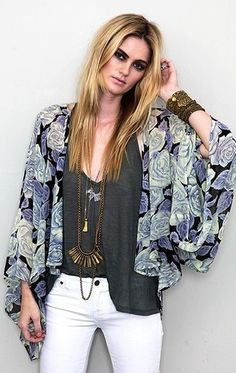 obsessed with kimonos from Planet Blue