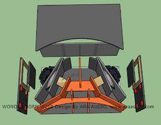 √ Skema Box WONDER Horn W218 Subwoofer Mantap - ARA AUDIO Diy Subwoofer, Subwoofer Box Design, Speaker Box Design, Monitor Speakers, Diy Speakers, Speaker Plans, Loudspeaker, Audio System, Retro