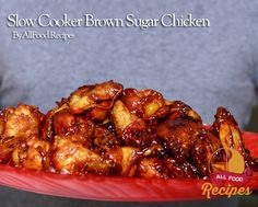 Slow Cooker Brown Sugar Chicken. I am going to try with boneless chicken