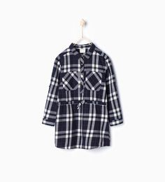 Image 1 of Check shirt dress from Zara