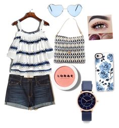 """""""Summer day out"""" by kaydance-nadeau on Polyvore featuring Hollister Co., Spartina 449, Marc Jacobs, LORAC and Casetify"""